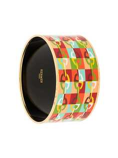Hermès браслет жесткой формы с принтом