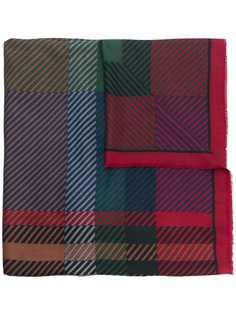 Christian Dior Pre-Owned шарф в клетку