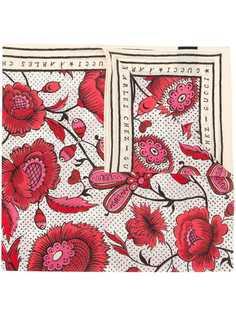 Gucci платок с цветочным принтом