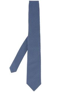 Gieves & Hawkes галстук с принтом