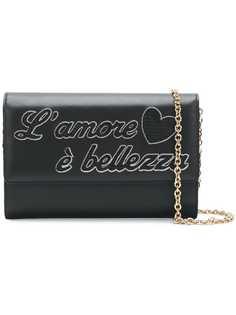Dolce & Gabbana front patched satchel bag