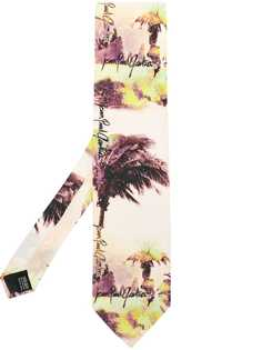 Jean Paul Gaultier Pre-Owned галстук с пальмовым принтом