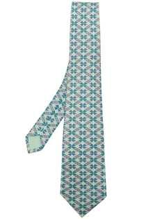 Hermès галстук с принтом