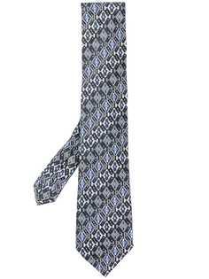 Etro галстук с геометрическим узором