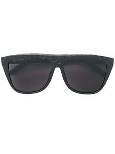 Saint Laurent Eyewear солнцезащитные очки в оправе с тиснением