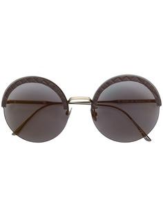 Bottega Veneta Eyewear солнцезащитные очки в круглой оправе