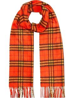 Burberry классический кашемировый шарф в клетку Vintage