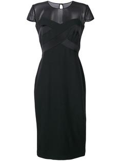 Max Mara платье с прозрачной панелью