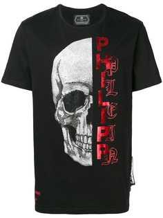 Philipp Plein футболка с отделкой в виде черепа