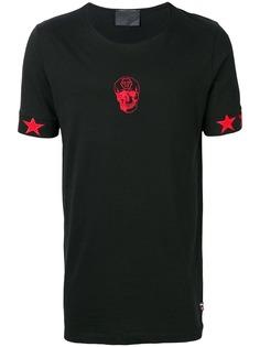 Philipp Plein футболка с вышитым логотипом