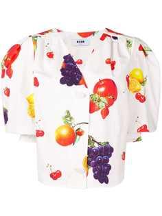 MSGM блузка с принтом