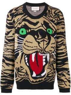 Gucci свитер с изображением тигра