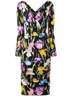 Dolce & Gabbana платье с принтом ирисов
