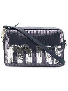 Miu Miu прямоугольная сумка с логотипом и пайетками