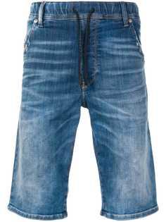 Diesel шорты JoggJeans средней посадки