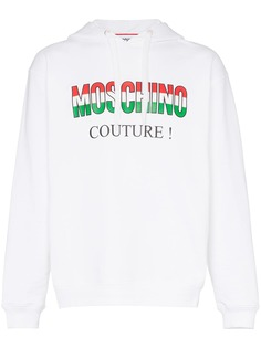 Moschino толстовка Italian с капюшоном и логотипом