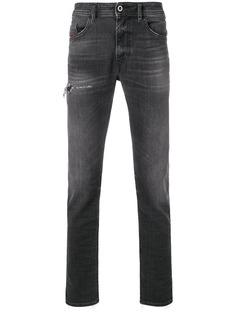 Diesel прямые джинсы с выцветшим эффектом