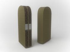 Чехол двойной для одежды малый, 60х100х20см Co Fre T