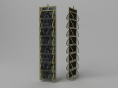 Кофр для колготок и мелочей, двусторонний, 16 карманов, 20х80см. Co Fre T