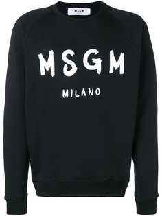 MSGM толстовка с принтом логотипа