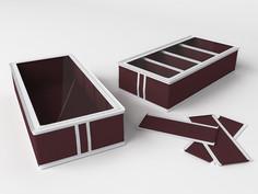 Короб для обуви, на 4 ячейки (перегородки съемные на липучке) 26х52х12см Co Fre T