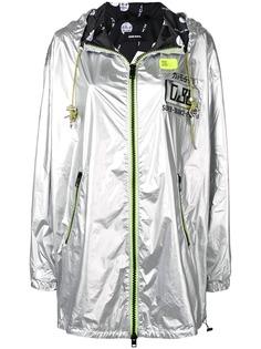 Diesel куртка с эффектом металлик и неоновыми вставками
