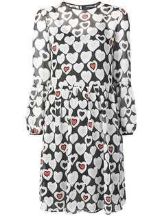 Emporio Armani платье с принтом сердец