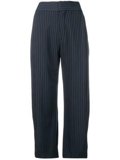 Chloé укороченные брюки в тонкую полоску