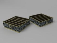 Кофр для бюстгальтеров 6 ячеек, 35x35x10 см Co Fre T