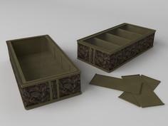Короб для обуви, на 4 ячейки (перегородки съемные на липучке) 26х52х12 см Co Fre T