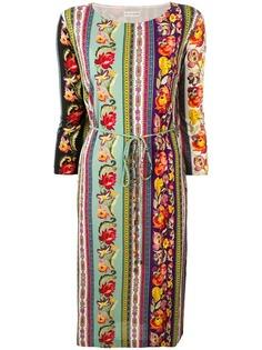 Etro платье-туника с цветочным принтом