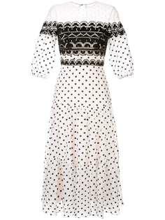 Temperley London платье миди в горох
