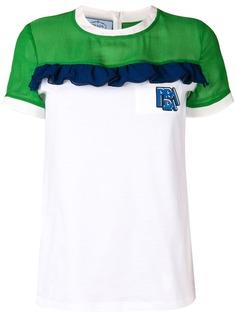 Prada футболка в стиле колор-блок