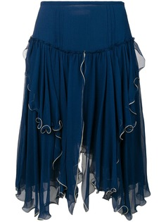 See By Chloé асимметричная многослойная юбка
