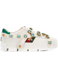 Gucci кроссовки с декором из кристаллов
