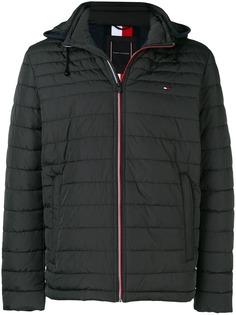 Tommy Hilfiger стеганая куртка с капюшоном