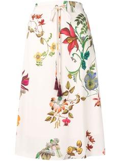 Etro платье миди с цветочным узором