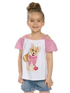 """Майка для девочек """"розовая карамелька"""" Pelican"""