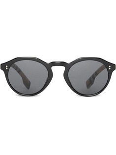 Burberry Eyewear солнцезащитные очки в круглой оправе в клетку Vintage Check