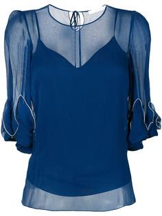 See By Chloé прозрачная блузка с драпировками