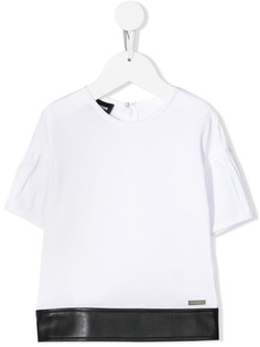 Dsquared2 Kids футболка с отделкой из искусственной кожи