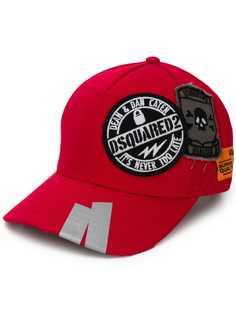 Dsquared2 бейсбольная кепка с нашивкой-логотипом