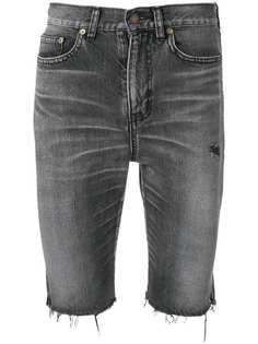 Saint Laurent джинсовые бермуды