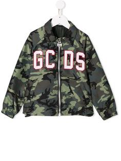 Gcds Kids куртка-рубашка с камуфляжным принтом и нашивкой-логотипом