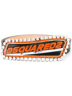 Dsquared2 декорированный пояс с логотипом