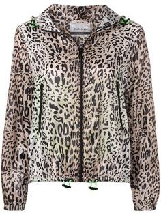 Pinko куртка с капюшоном и леопардовым принтом
