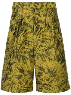 Cerruti 1881 шорты-бермуды с тропическим принтом