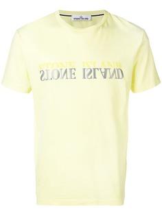 Stone Island футболка с принтом логотипа
