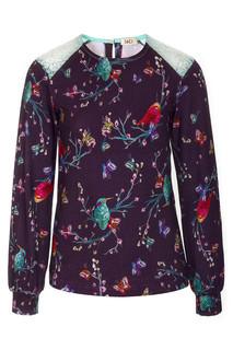 Блузка для девочки с кружевными вставками MD