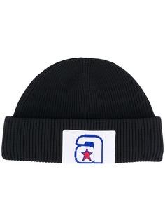Alexander Wang шапка бини с нашивкой-логотипом